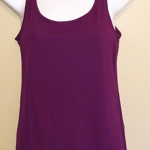 Eileen Fisher Long Scoop Neck Camisole Silk Tank